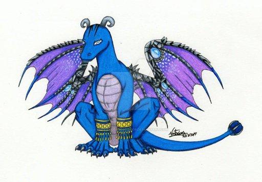 512x355 blue dragon adorable art amino amino
