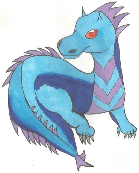 483x600 Blue Dragon Drawings