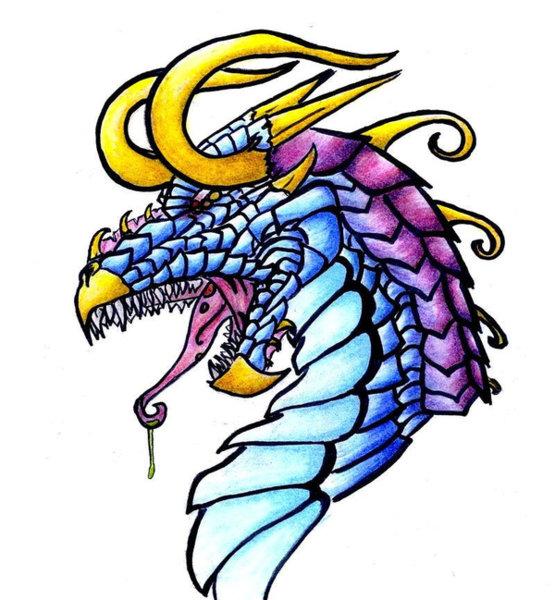 555x600 Blue Dragon Drawings Fine Art America