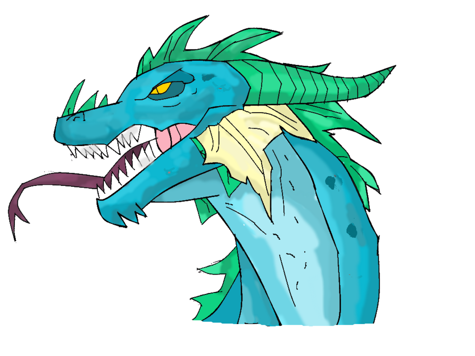 2000x1500 Blue Dragon