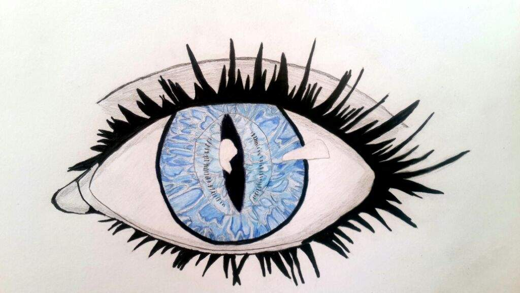 1024x576 Drawn Blue Eyes Real Life