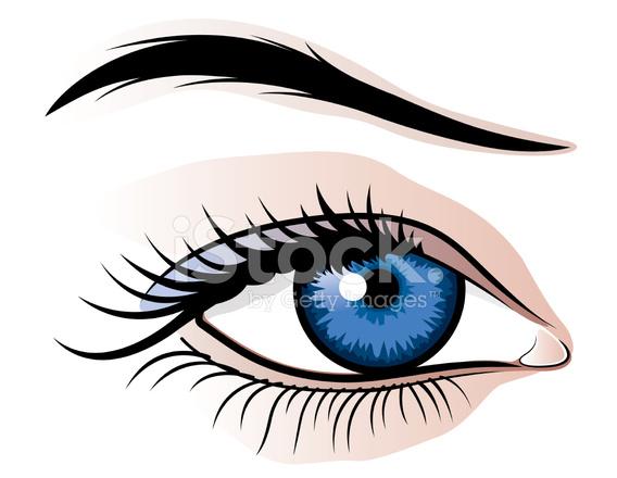 568x440 Female Eye Illustration Stock Vector