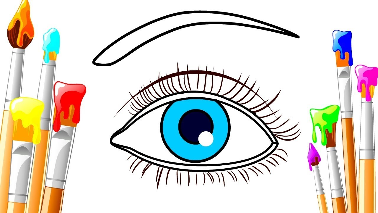 1280x720 How To Draw Realistic An Blue Eyes Easy Step