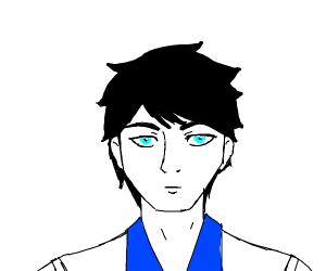 300x250 Man With Black Hair Blue Eyes And A Blueshirt