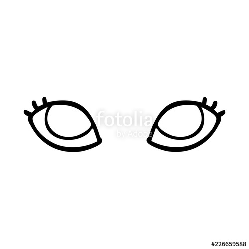 500x500 Line Drawing Cartoon Blue Eyes Stock Image And Royalty Free