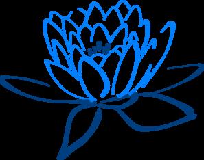 297x234 Light Dark Blue Lotus Clip Art