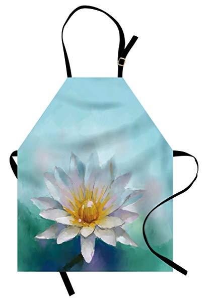 409x606 Lunarable Flower Apron, Detailed Impressionist Close