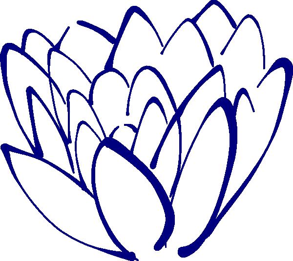 600x535 Navy Blue Lotus Clip Art