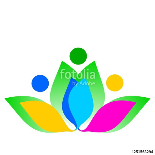 500x500 Vector Drawing Of Lotus Flower, Family Health Logo Of Spring