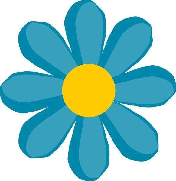 582x599 Blue Flower Clip Art Free Vector In Open Office Drawing