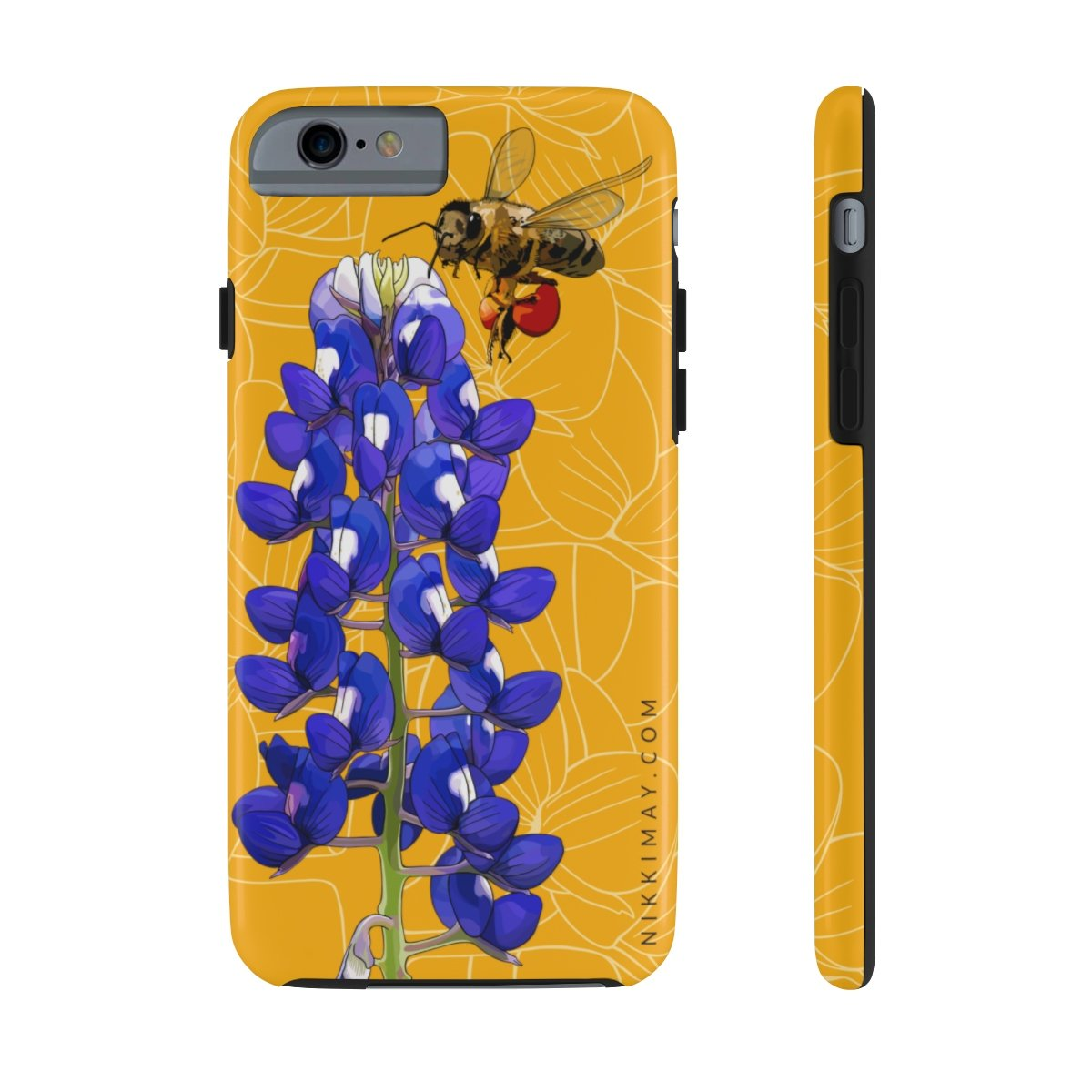 1200x1200 texas bluebonnet + honeybee case mate tough phone cases