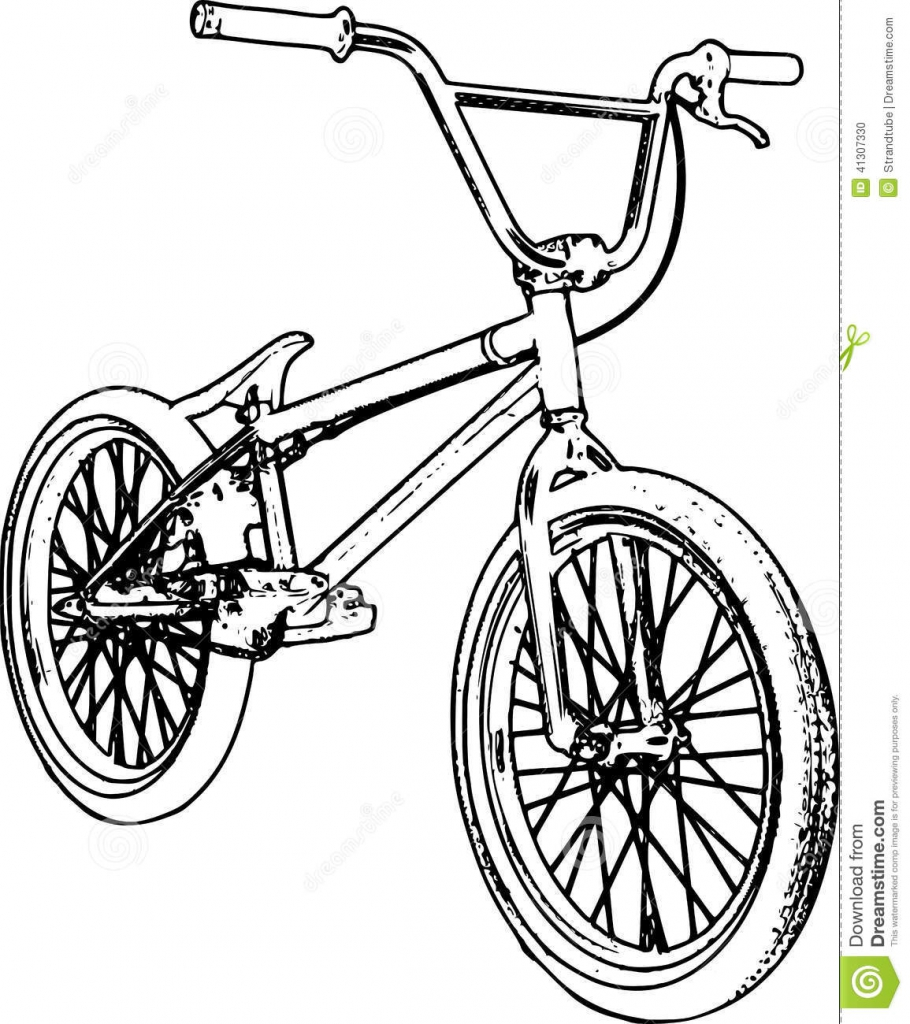 Bmx Bike Drawing