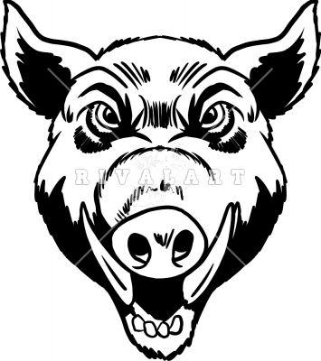 355x400 wild hog head drawings wild hogs walhalla style animals