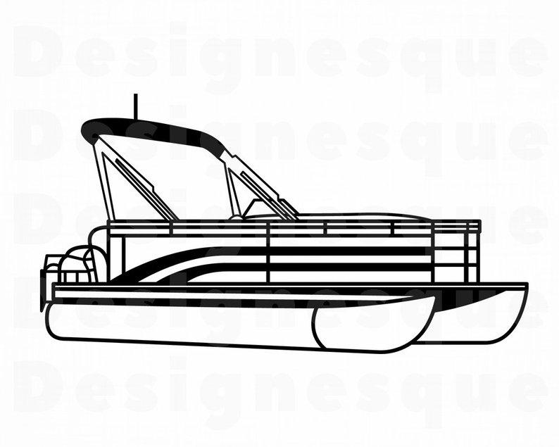 794x635 pontoon boat outline pontoon boat pontoon boat etsy