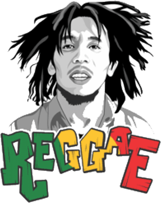 316x400 Bob Marley Cartoon Face