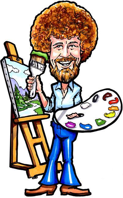 403x650 image result for bob ross cartoon artwork in bob ross