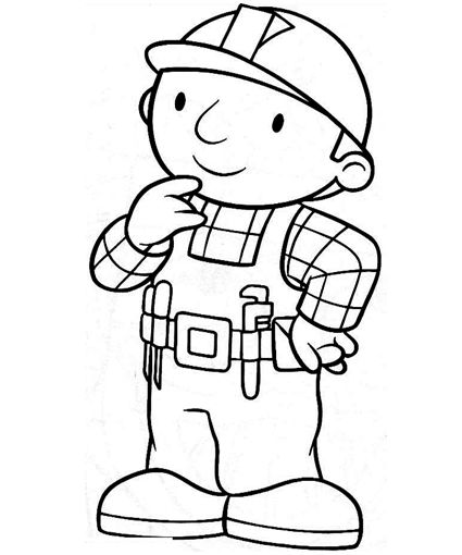 425x510 bob the builder coloring pages crafts ideas bob the builder