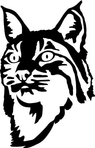 320x500 Bobcat Face Wall Decal
