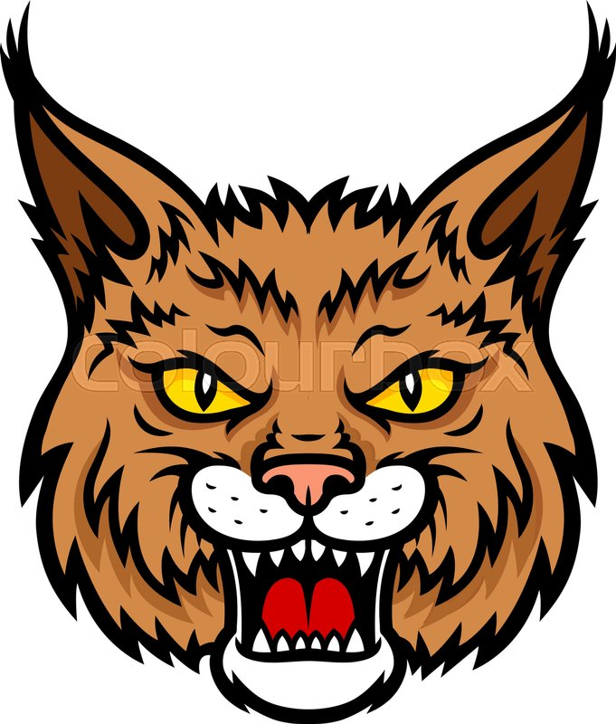 681x800 Bobcat Lynx Vector Mascot Icon Of Wild Stock Vector Colourbox