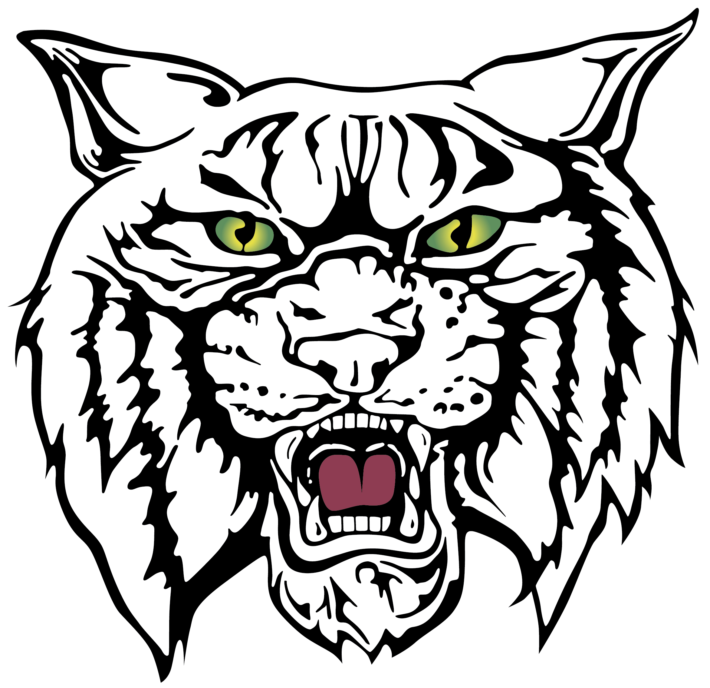 2346x2271 Collection Of Free Bobcat Vector Face Download On Ui Ex