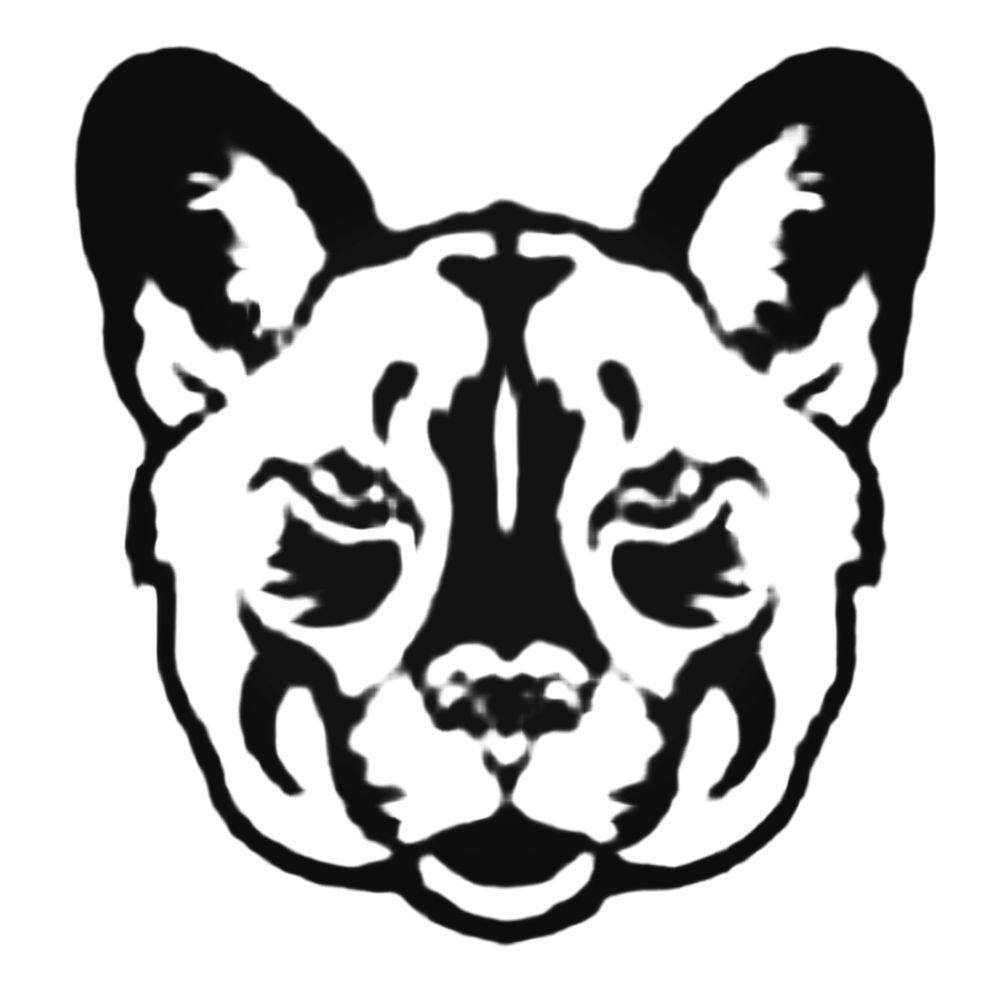 1000x1000 Grumpy Bobcat Face Decal Sticker