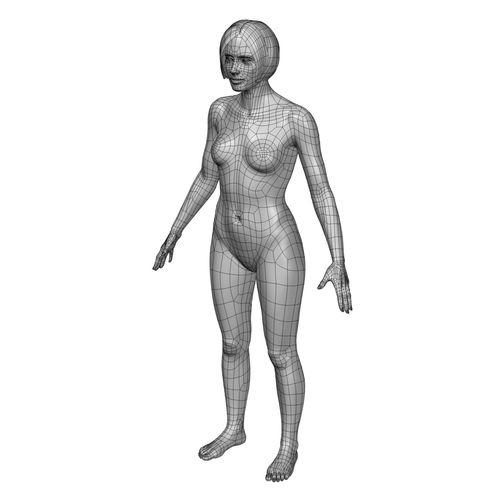 500x500 Cad Human Body Basic Casual Female Model