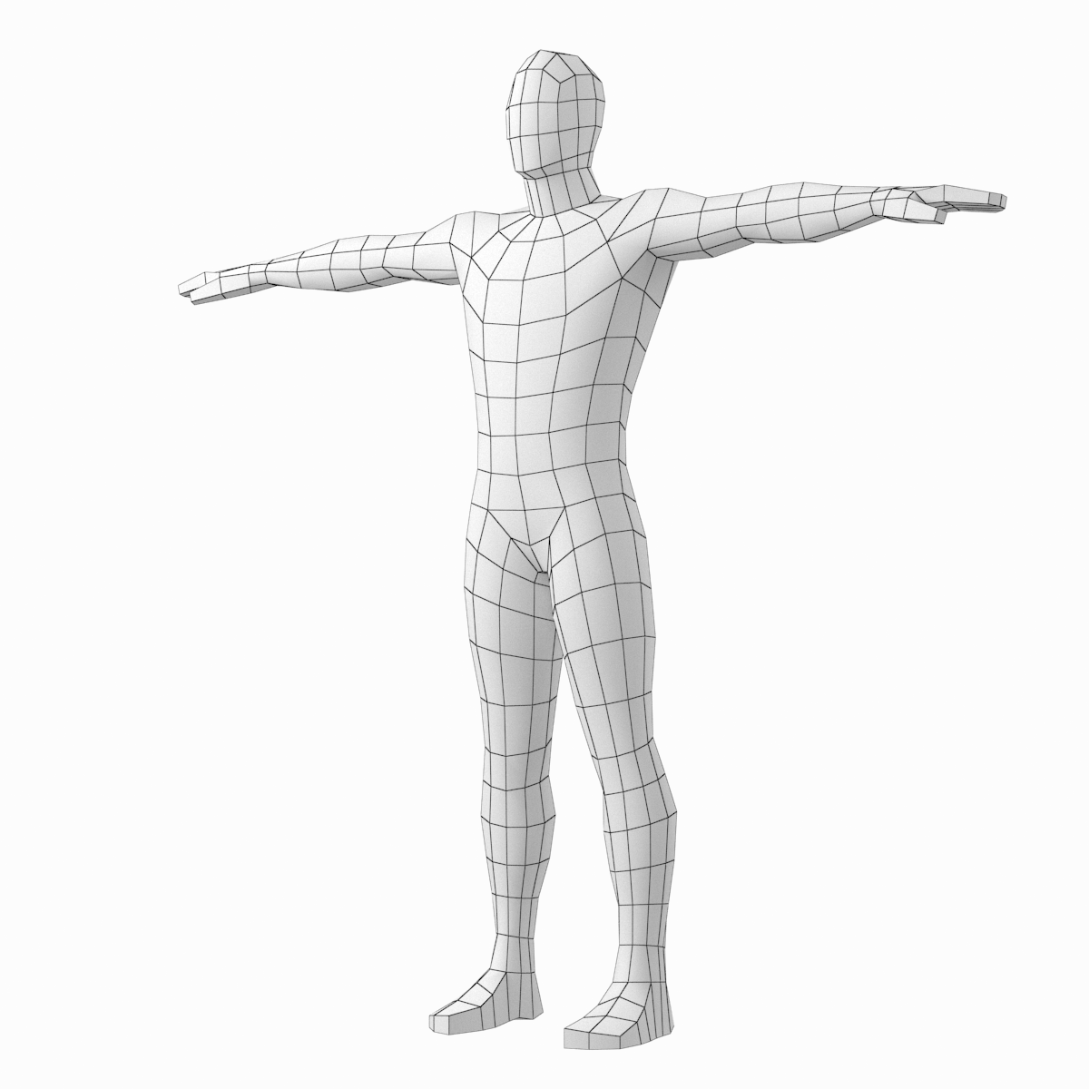 1200x1200 Female And Male Base Mesh In T Pose Model