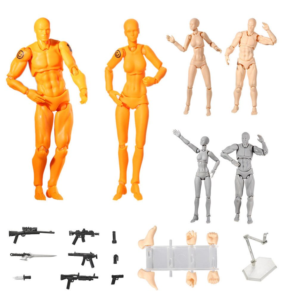 1000x1000 Pcs Light Body Pvc Movebale Action Figure Model For S