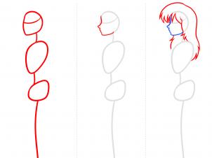 302x226 How To Draw Anime Body Figures, Step
