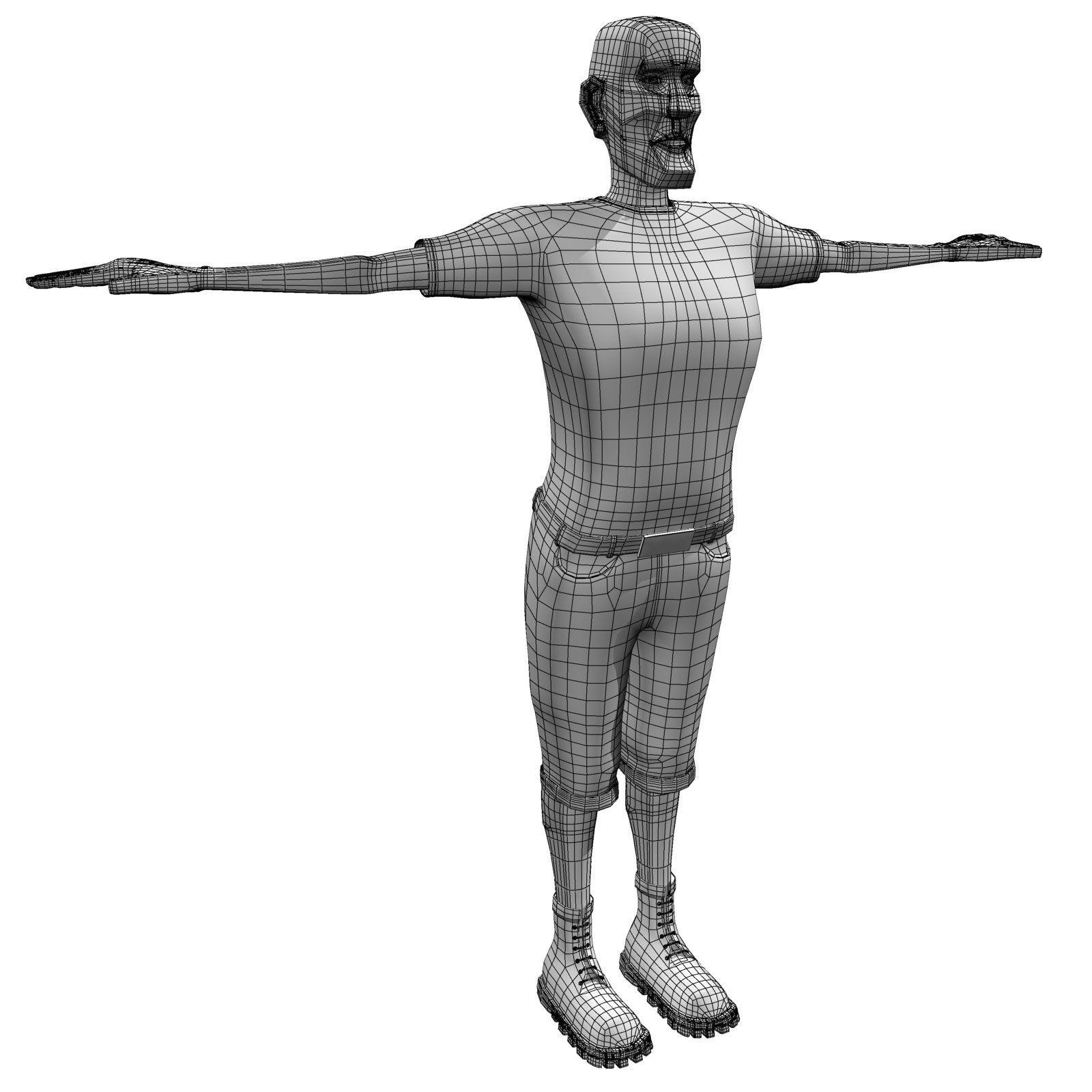 1600x1600 Man Body Builder Model Cgtrader