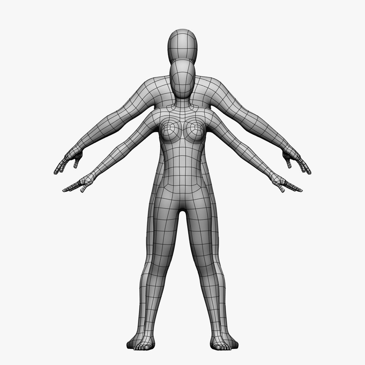 1200x1200 Female Male Model Character Modeling, Maya Modeling, Model