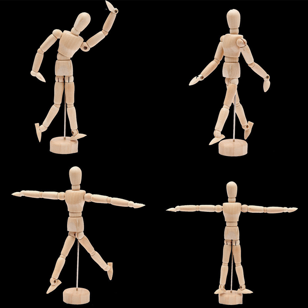 1010x1010 Drawing Model Wooden Human Male Manikin Jointed
