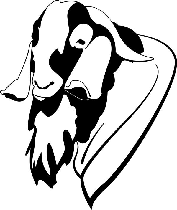 600x713 Boer Goat Head Silhouette