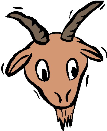 354x433 Boer Goat Clip Art Image