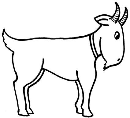 425x387 Good Simple Goat Drawing Goat Clip Art Vector Clip Art Online