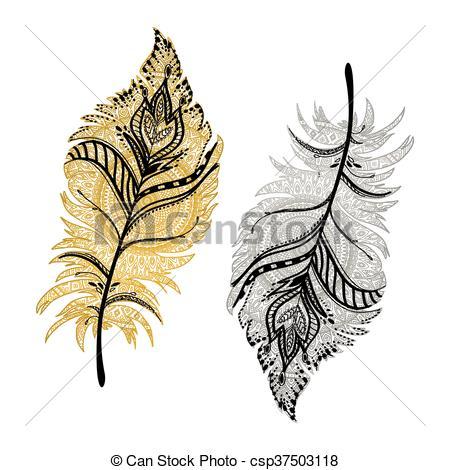 450x470 beautiful boho feathers beautiful vector illustration