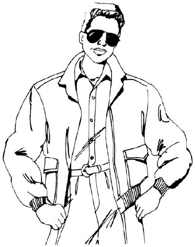 400x505 how to draw people man in a bomber jacket howstuffworks