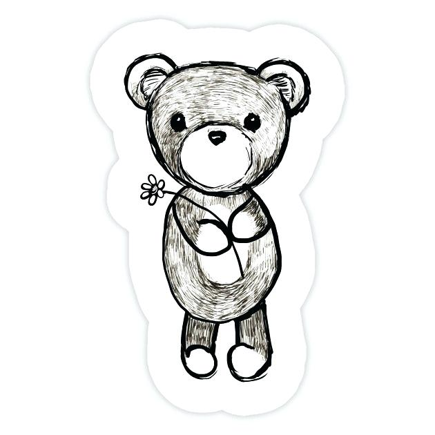 630x630 cute teddy bears to draw adorable teddy bear sticker cute teddy