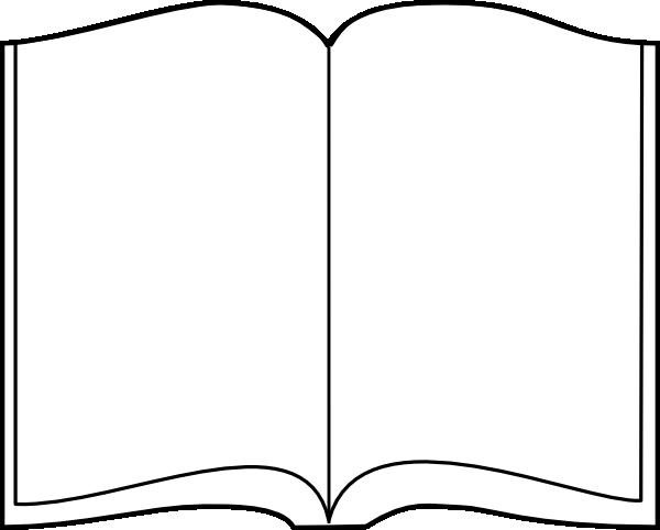 600x482 Open Book Outline Clip Art