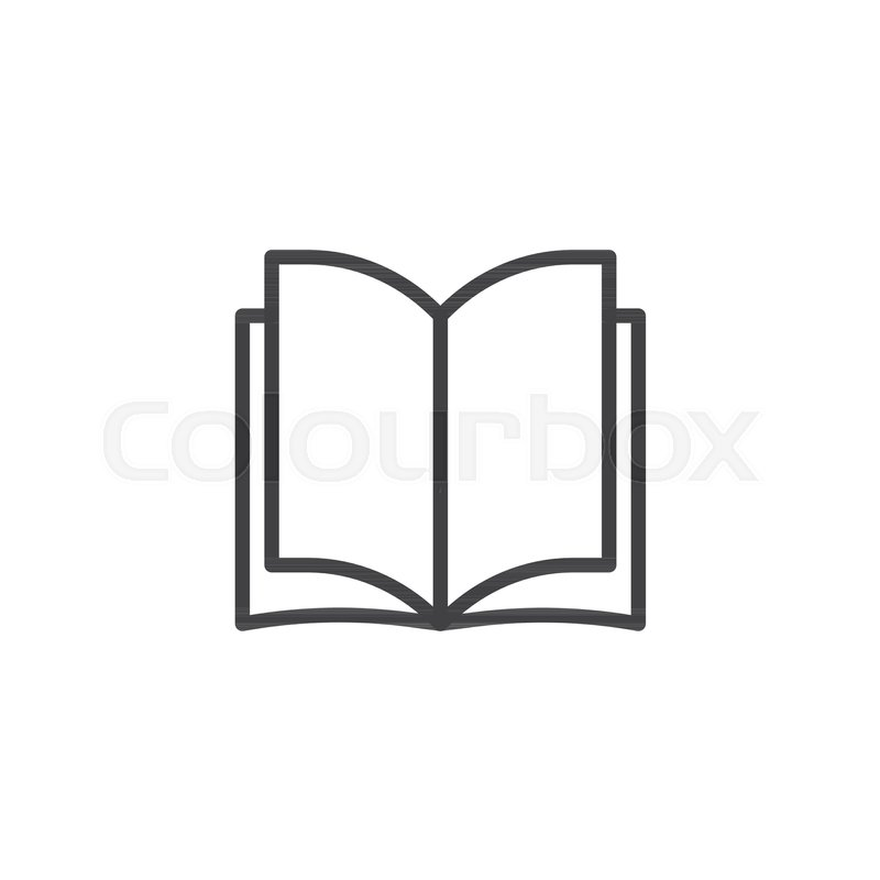 800x800 Open Book Pages Outline Icon Linear Stock Vector Colourbox