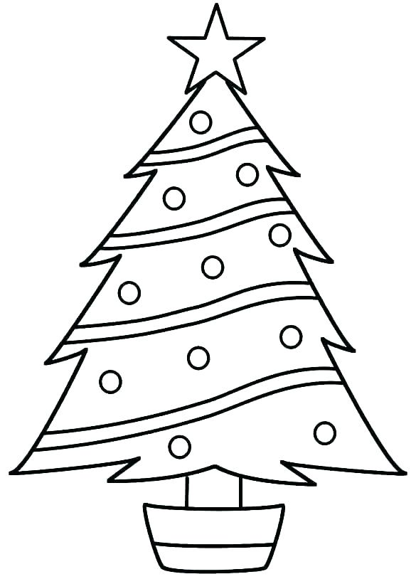 585x814 Christmas Tree Drawing Outline