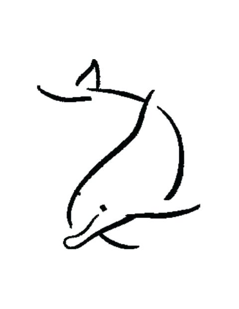 480x622 dolphin outline drawing dolphins outline dolphin outline easy