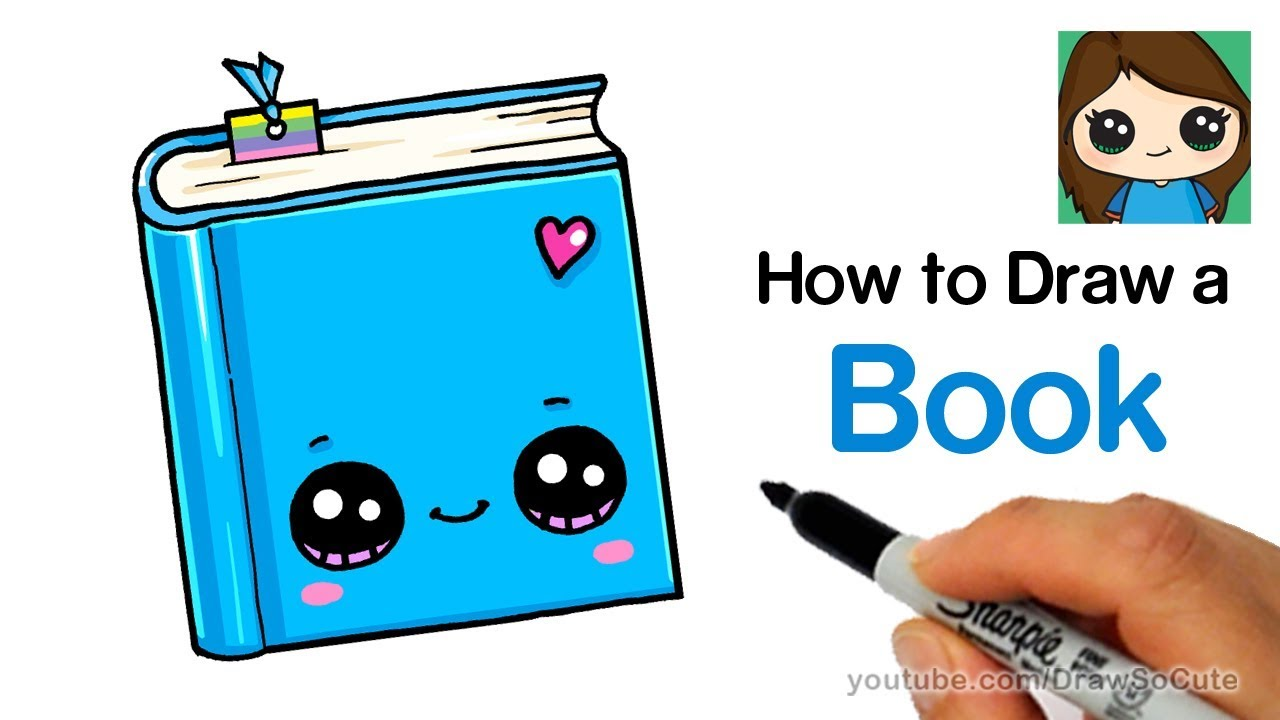 1280x720 How To Draw A Book Easy Cute Back To School Supplies