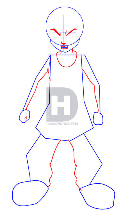 419x720 How To Draw Riley Freeman From The Boondocks, Step