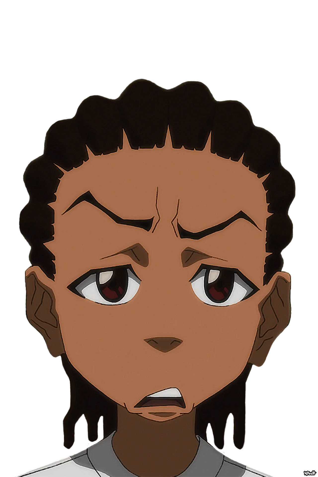1280x1920 huey freeman only speaks the truth the boondocks the look