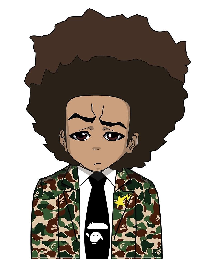 805x1000 Huey Freeman In Bape Anime In Urban Wear Art, Dope Art, Art