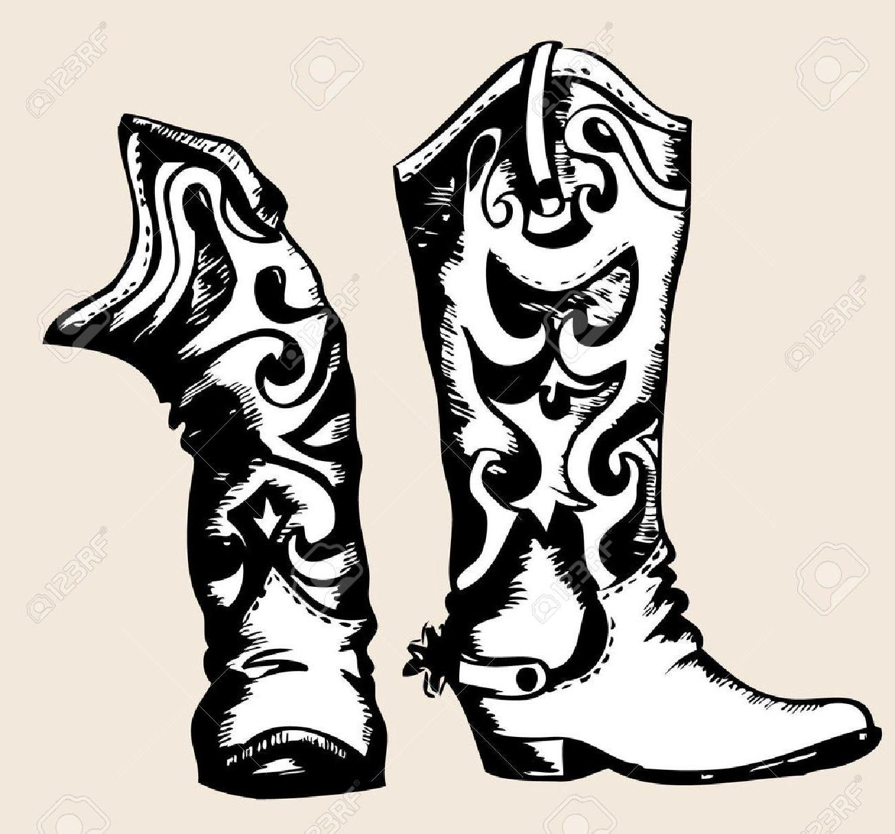 1300x1212 Cute Boots Drawing Baby Images Anime Of Cowboy Step