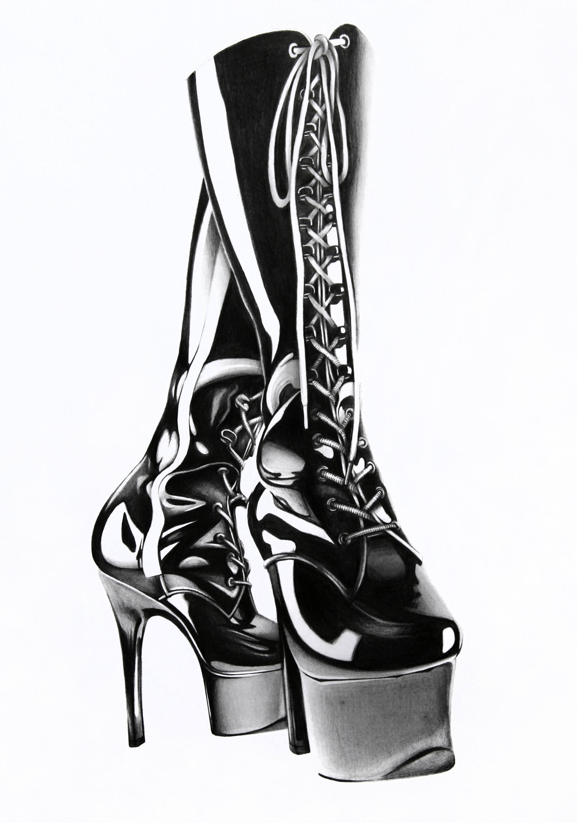1920x2736 High Vinyl Boots Drawing