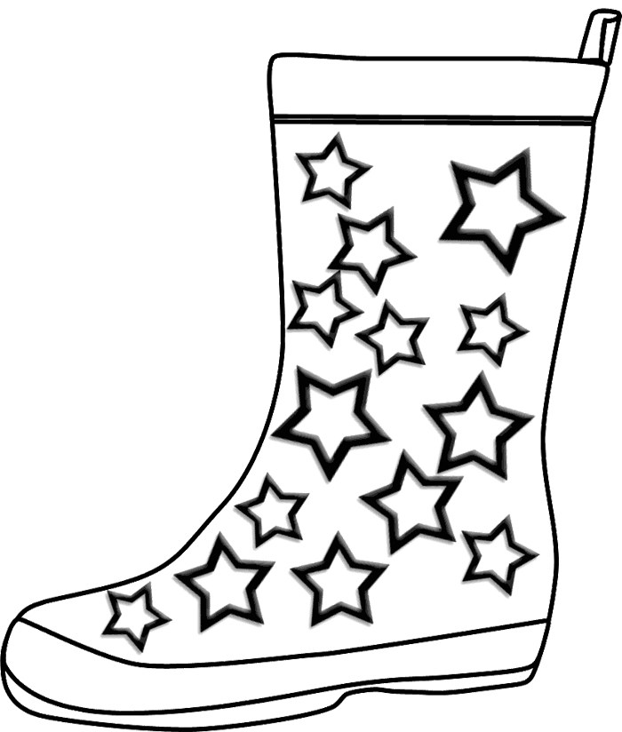 700x824 Kids Winter Boots Drawing