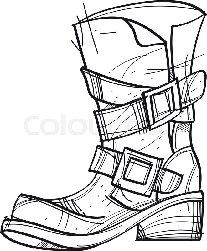 661x800 Old Men's Boots Cartoon Drawing For Stock Vector Colourbox